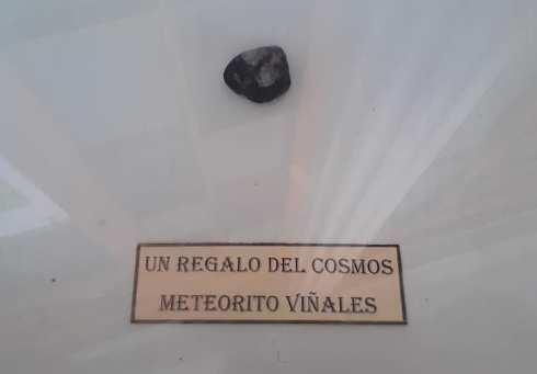 Fragmento del meteorito caido en Viñales